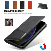 For Iphone 12 Pro Max 12pro 5s 6 7 8+ Xr Xsmax Canvas Leather Magnetic Flip Case