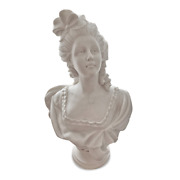 Bust Classic Of Checkers French Seven Hundred In Marble Carrara Lady Bust H.