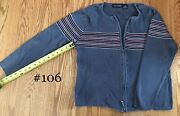 106 Knit Sweaters Women All Points Full Zippered Crew Neck
