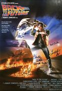 Back To The Future Cast Signed One Sheet Poster Autograph Michael J Fox +8