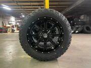 20x9 A2 Offroad Mo970 Black Wheels 32 Fuel At Tires 6x5.5 Chevy Suburban Tahoe