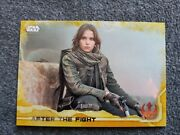 2016 Topps Star Wars Rogue One After The Fight Gold Squad Parallel/50jyn