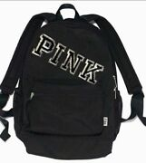 New Victoria's Secret Pink Campus Backpack Laptop Travel Book Bag Tote Rare Gift