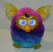 Furby Boom 2012 Crystal Yellow Pink Blue Tested Works Great Shape