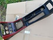 Bmw Z3 Center Console Red Leather Black Oem Wood Grain Roadster Convertible