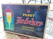 Vintage Papst Andecker Glass Lighted Beer Advertising Sign