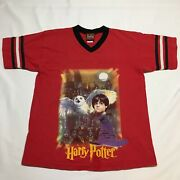 Vtg 2001 Harry Potter And The Sorcerers Stone Movie Promo Jersey T Shirt Xs Xxs