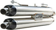 Two Bros M-7 Vale Exhaust System Stainless Dual Slip On 005-4120409d