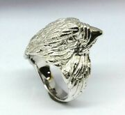 Mr101 Genuine 9ct14k Or 18k Real Gold Eagle Falcon Bird Biker Ring In Your Size