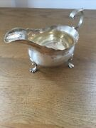 Antique Georgian Solid Silver Sauce Boat Newcastle 1757