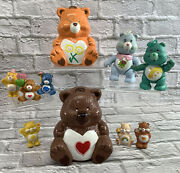Vintage Care Bears Lot Junk Drawer Toy Box Lot Of Figures, Figurines, And Magnets