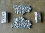 Vintage Rapaport Bros Junior Toy Figure Mold 5263 Cowboys And Indians + 2 Ingots