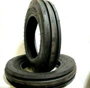 Two 7.50-20 Front Tractor Tires Planter F2 Tri Rib 7.50-20 Tubeless 8 Pr 750 20