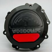 Kawasaki 2011-21 Zx10r Woodcraft Left Side Engine Stator Cover - Red Skid Pad