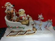 Lenox Disney Showcase Collection Figurine A Sleigh Ride Together With Pooh
