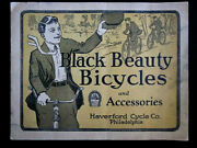 1920 Haverford Cycle Co. Black Beauty Bicycles Color Illustrated Catalog