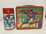 Vintage Superman Lunchbox Circa 1978 With Matching Thermos Awesome