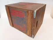 Vintage Pepsi Cola Down At The Beach Lp Record Wood Wooden Crate Box W/lid