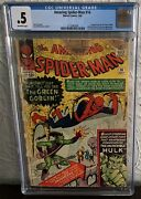 Amazing Spider-man 14 Cgc 0.5 1964 1st Appearance Of The Green Goblin Marvel