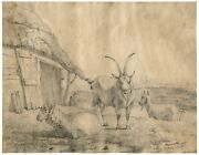 An Antique Master Drawing By Pierre Franandccedilois De Noter 1779-1843