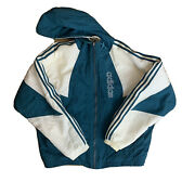 Vtg Mens Large Adidas Puff Zip Up Front Jacket Snow Full Logo 90and039s L