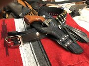 Johnny Ringo Western Leather Gun Belt And Holster Hand Tooled Cowboy Action