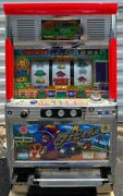 """Token Slot Machine Sanyo Sammy """"horse Race"""" Includes Lots Of 777 Tokens"""
