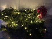 9andrsquo Bethlehem Lights 100 Clear Led Lighted Garland Red Bow Mantel Christmas A46