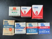 Vintage Spice Tins Lot Bee Brand Mccormick Ann Page Mace Frankand039s