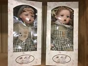 W.ande. Group Inc Collection Boy And Girl Thumb Sucking Porcelain Dolls T7