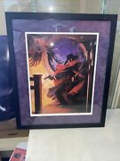 Stephen Hickman Signed Golden Age The Shadow Pulp Hero Limited Print Pro Framed