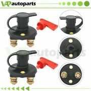 Set Of 2 Battery Switch For Marine Car Rv Boat Isolator Disconnect Power Kill