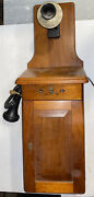 Vintage Western Electric Wood Box Wall Phone Retrofit With Stromberg Rotary