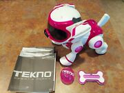 Tekno 4g Interactive Robotic Puppy - Pink/red/white Tested And Works