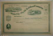Sioux City And Pacific Railroad Company Stock Certificate Iowa Union Pacific Up
