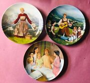 The Sound Of Music Collector Plates - Lot Of Three 3 - Set Of 3 W/ Coa