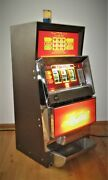 Summit Systems Trop 3 Quarter Coin Operated Lighted Slot Machine - Needs Repair