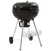 Vidaxl Kettle Charcoal Bbq Grill Steel Barbecue Bbq Stand Bullet Grill Outdoor