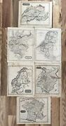 Antique Maps Lot Ewing Switzerland Germany Prussia Russia Norway Sweden France