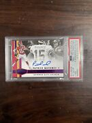 2018 Plates And Patches Patrick Mahomes Marquee Marks Purple Auto /10 On Card Psa