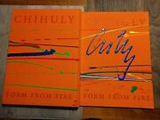 Chihuly...signed Original Painting On Book Cover...ultra Rare..2 Watchers