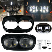 Motorcycle Dual Led Headlight High Low Beam Lamp For Harley Road Gilde 2004-2013