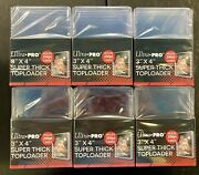 60 - Ultra Pro 3x4 Super Thick Top Loaders 200 Pt - 6 Packs With 10 Holders Each