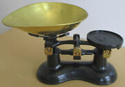 Vintage 1970's Victor England Black And Gold Kitchen Cast Iron Scale Near Mint