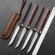 M390 Steel Folding Knife Wooden Handle Outdoor Tool Pocket Camping Hunting Knife