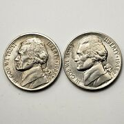 1988 P And D Jefferson Nickel, Set Of 2 Coins, Km A192, Xf