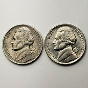 1988 P And D Jefferson Nickel, Set Of 2 Coins, Km A192