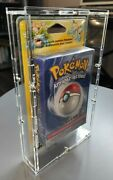 Clear Acrylic Case For Pokemon Wotc Blister Theme Deck - Uv Resistant -