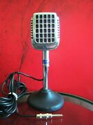 Vintage 1940's Shure 737a Crystal Super Cardioid Microphone W Cable 55 Works