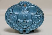 Antique Metal Door Plate Mickey Mouse 1928 Tomy Japan Old, Genuine, Rare